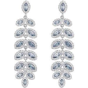 NEW Swarovski Crystal Baron Blue & Clear Leaf Drop